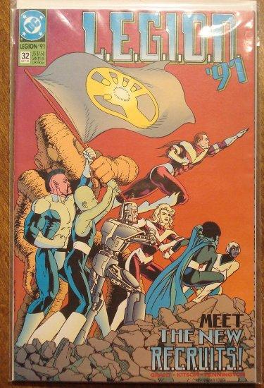 L.E.G.I.O.N. '91 #32 comic book - DC Comics, Legion of Super-Heroes, LSH