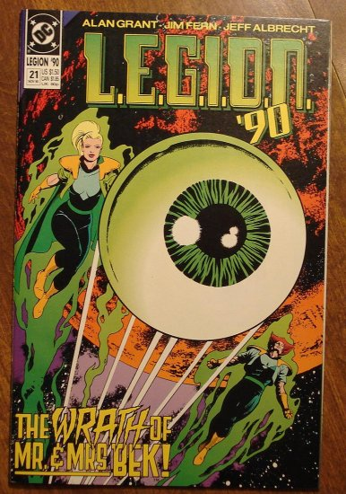 L.E.G.I.O.N. '90 #21 comic book - DC Comics, Legion of Super-Heroes, LSH