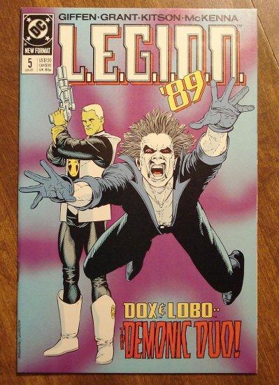 L.E.G.I.O.N. '89 #5 comic book - DC Comics, Legion of Super-Heroes, LSH