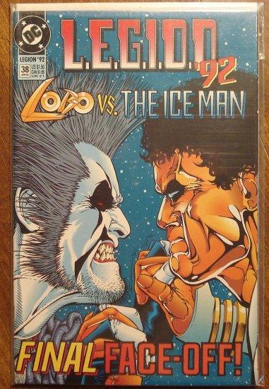 L.E.G.I.O.N. '92 #38 comic book - DC Comics, Legion of Super-Heroes, LSH