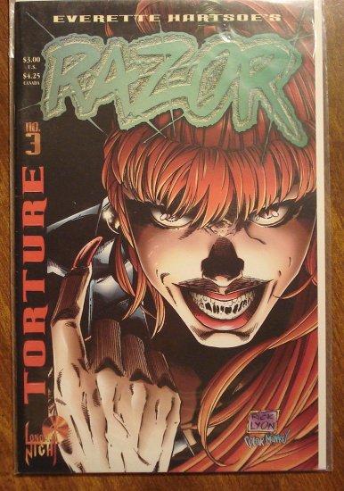 Razor: Torture #3 comic book - London Night comics - adults only!