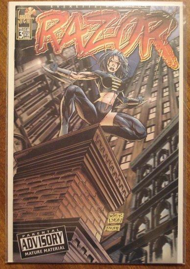 Razor #3 comic book - London Night comics - adults only!