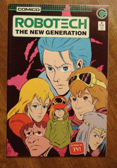 Robotech: The New Generation #4 comic book - Comico Comics