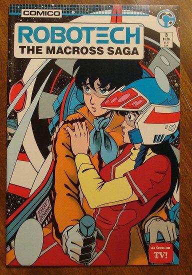 Robotech: The Macross Saga #3 comic book - Comico Comics