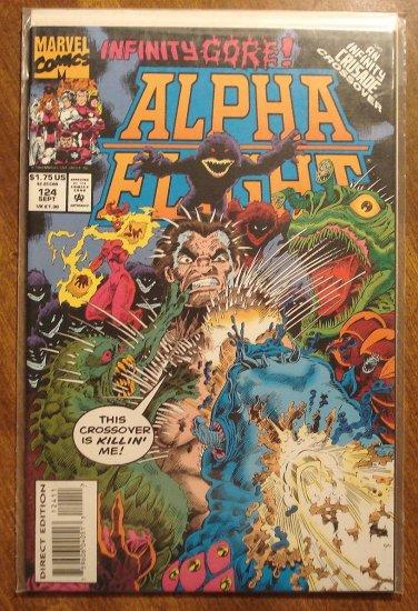 Alpha Flight #124 comic book - Marvel Comics