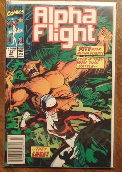 Alpha Flight #84 comic book - Marvel Comics