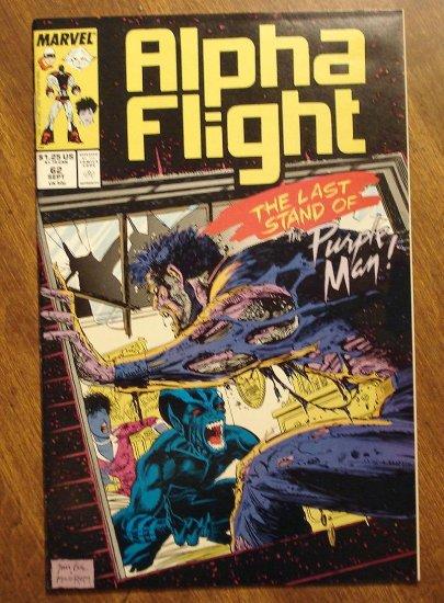 Alpha Flight #62 comic book - Marvel Comics