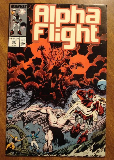 Alpha Flight #58 comic book - Marvel Comics