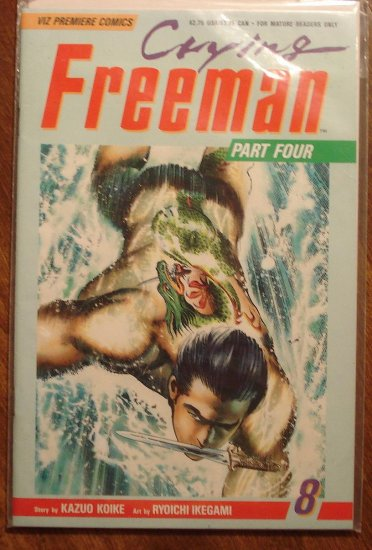 Crying Freeman #8 comic book - Viz Comics, manga