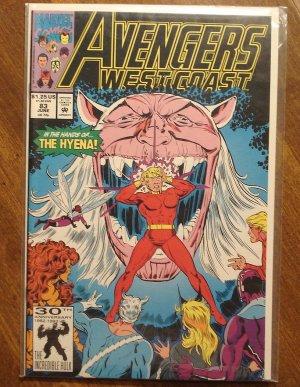 Avengers West Coast #83 comic book - Marvel Comics