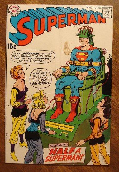 Superman #223 (1970) comic book - DC Comics, VG condition