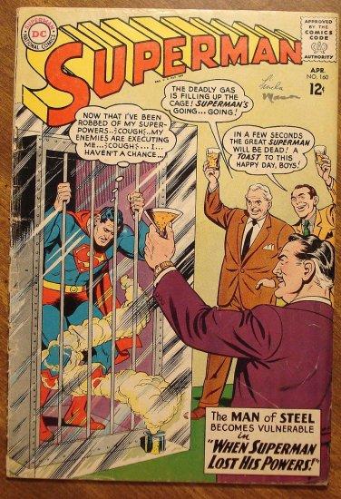 Superman #160 (1963) comic book - DC Comics, G/VG condition