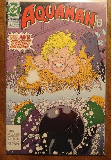 Aquaman #6 (early 1990's series) comic book - DC comics