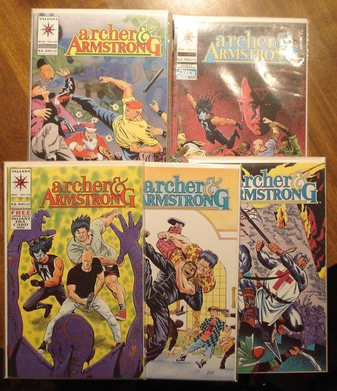 Archer & Armstrong #'s 20, 21, 22, 24, 25 comic book lot - Valiant comics