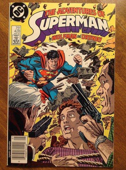 Adventures of Superman #428 comic book - DC Comics