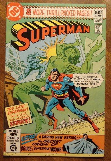 Superman #353 comic book - DC Comics
