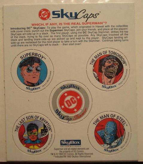 DC comics SkyCaps (POGS) - Death / Resurrection of Superman, 1993, unpunched, NM/M