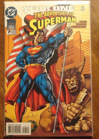 Adventures of Superman Annual #7 comic book - DC Comics