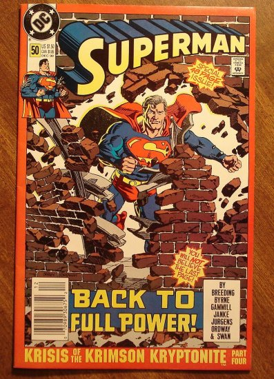 DC Comics - Superman #50 comic book (1980's series)