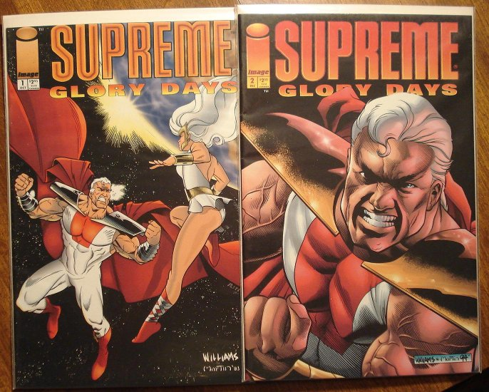 Supreme: Glory Days #'s 1 & 2 comic book - Image comics