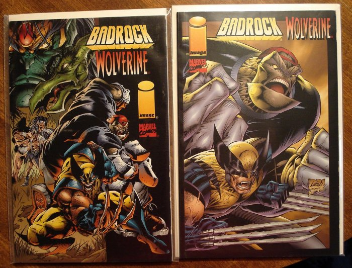 Badrock & Wolverine #1 (BOTH COVERS) comic book - Image & Marvel comics