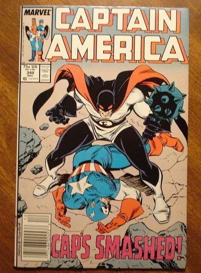 Captain America #348 comic book - Marvel Comics