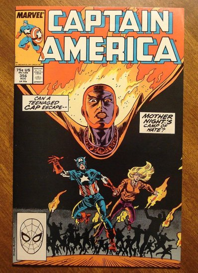 Captain America #356 comic book - Marvel Comics