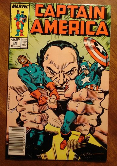 Captain America #338 comic book - Marvel Comics