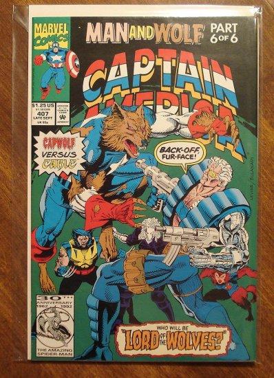 Captain America #407 comic book - Marvel Comics