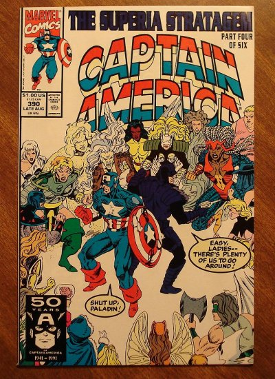 Captain America #390 comic book - Marvel Comics