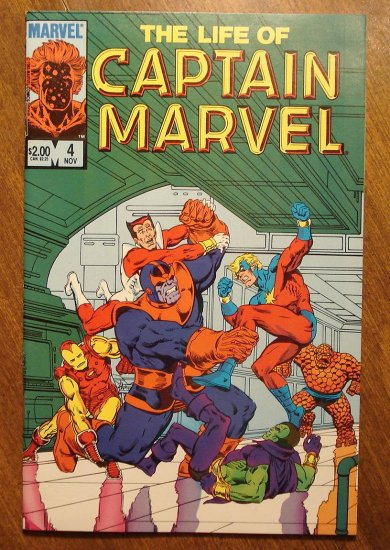 The Life of Captain Marvel #4 (1985) comic book - Marvel Comics
