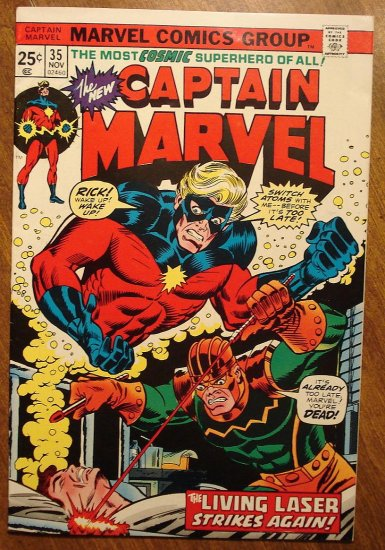 Captain Marvel #35 (1974) comic book VG/F - Marvel Comics
