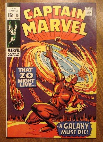 Captain Marvel #15 (1969) comic book, Fine/Very Fine condition - Marvel Comics