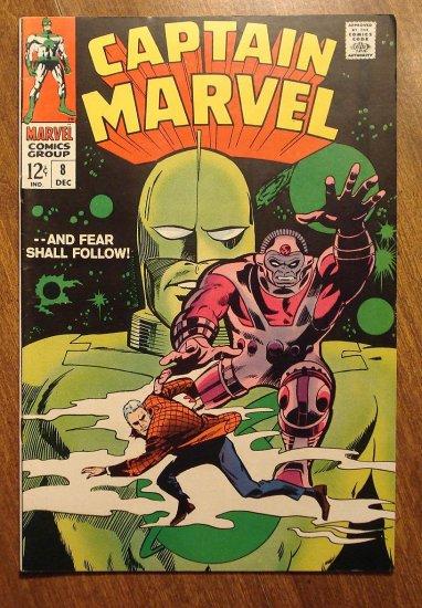 Captain Marvel #8 (1968) comic book, Fine/Very Fine condition - Marvel Comics