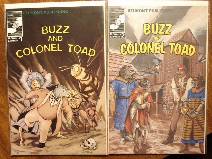 Buzz & Colonel Toad #'s 1 & 2 comic book - Belmont Publishing
