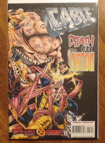 Cable #28 comic book - Marvel comics