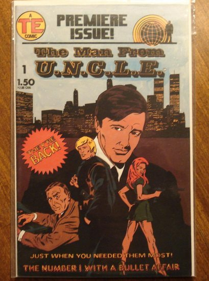 The Man From U.N.C.L.E. (uncle) #'s 1, 2, 4, comic book - TE Comics