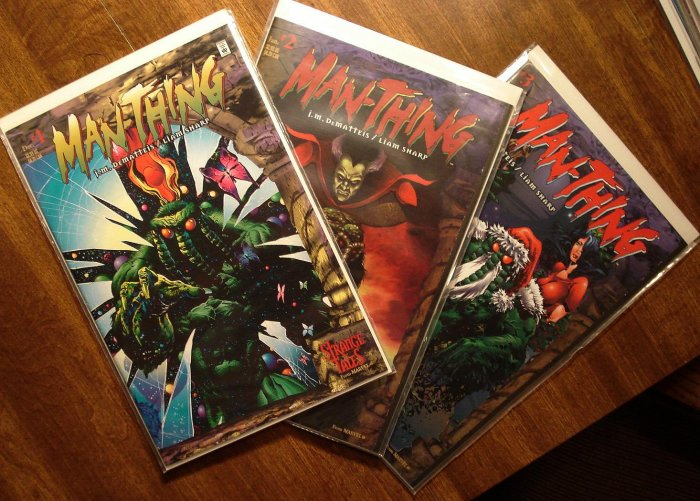 Man-Thing #'s 1, 2, 3 (1998) comic book - Marvel Comics