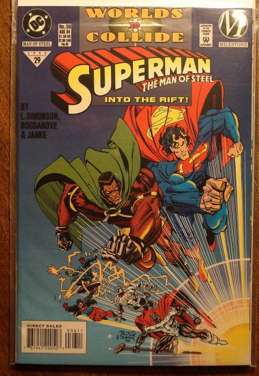 Superman: Man of Steel #36 comic book - DC Comics