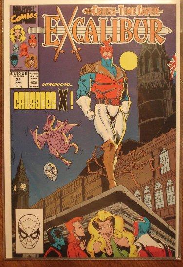 Excalibur #21 comic book - Marvel Comics