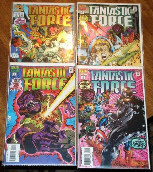 Fantastic Force #'s 1, 2, 3, 4 comic book - Marvel Comics