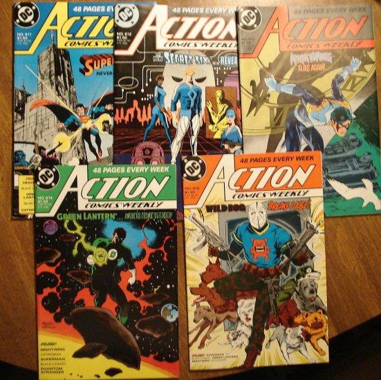 Action Comics Weekly #'s 611, 612, 613, 614, 615 comic book - DC Comics - Superman
