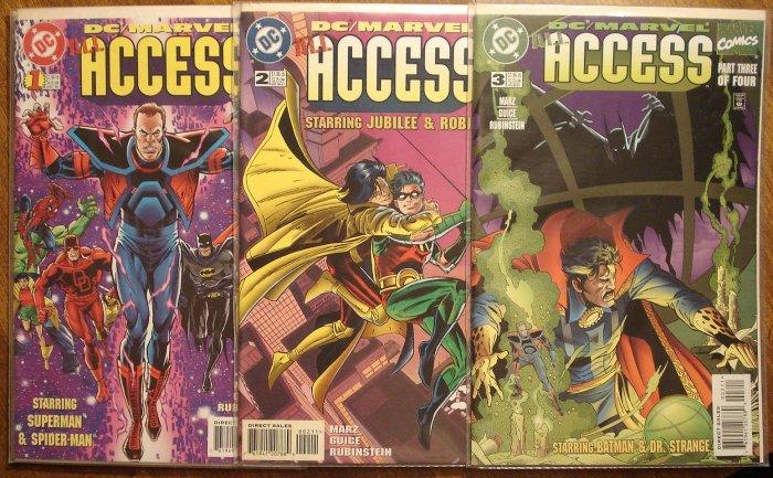 All Access #'s 1, 2, 3 comic book - DC & Marvel Comics, Superman & Spider-Man, Batman & Daredevil
