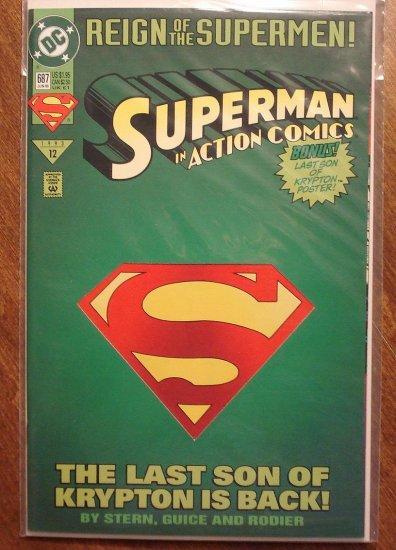 Action Comics #687 comic book (die cut cover) - DC Comics - Superman