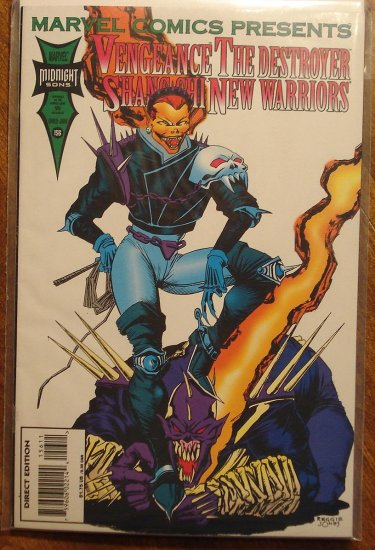 Marvel Comics Presents #156 comic book, Vengeance, The Destroyer, Shang Chi, New warriors
