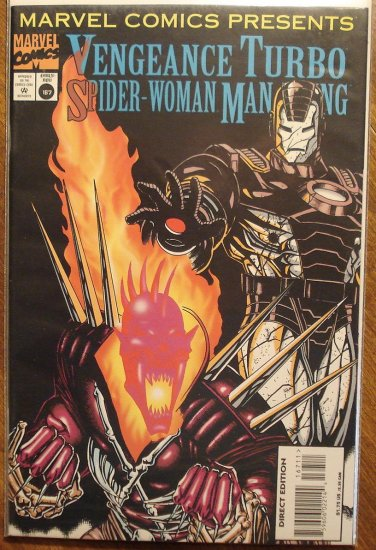 Marvel Comics Presents #167 comic book, Vengeance, Turbo, Spider-Woman, Man-Thing