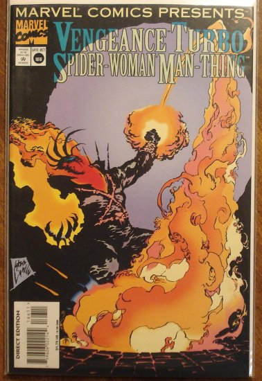 Marvel Comics Presents #166 comic book, Vengeance, Turbo, Spider-Woman, Man-Thing