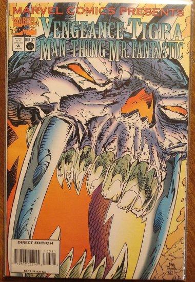 Marvel Comics Presents #165 comic book, Vengeance, Tigra, Mr. Fantastic, Man-Thing