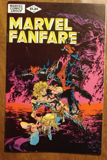 Marvel Fanfare #2 comic book, Marvel comics, Spider-man