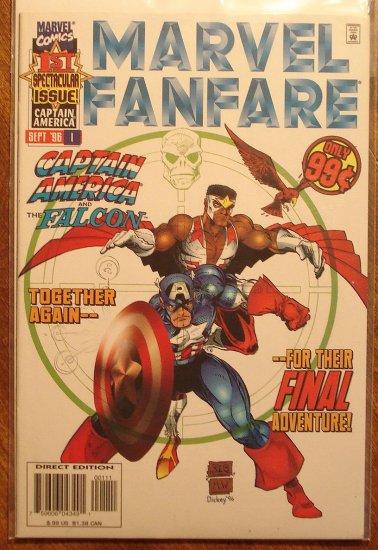 Marvel Fanfare #1 (1990's series) comic book, Marvel comics, Captain America & The Falcon